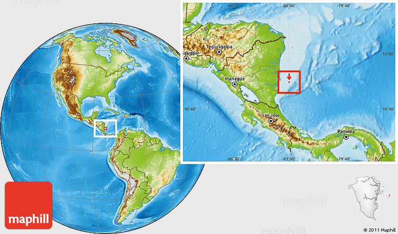 little-corn-island-nicaragua-beach-bungalow-eco-lodge-resort-hotel-location-map
