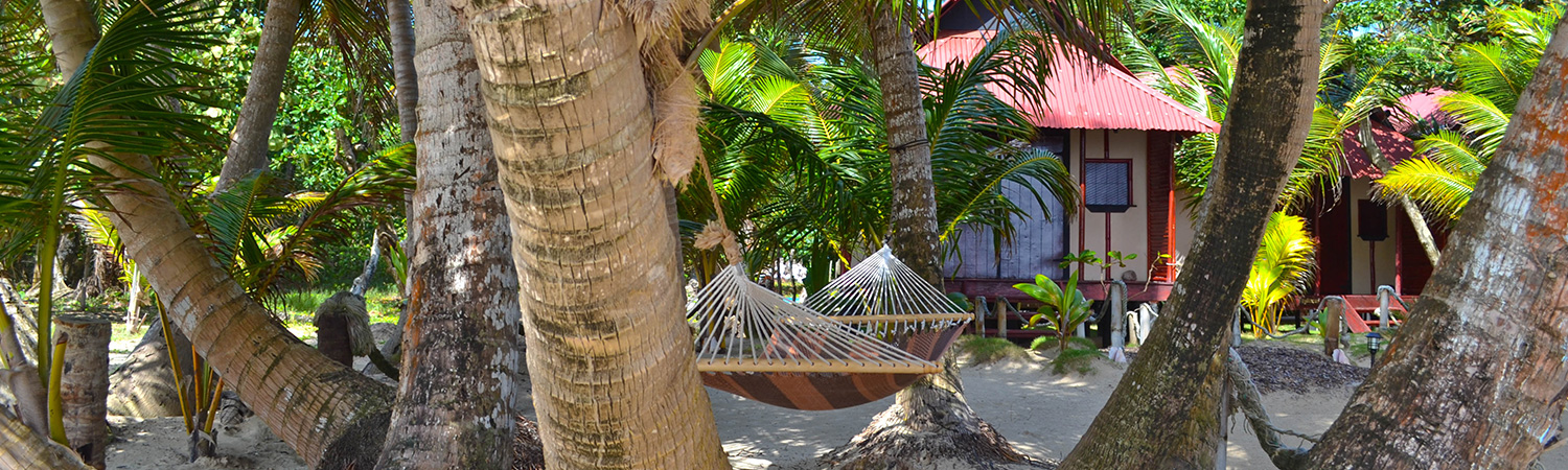 Little Corn Island Beach And Bungalow Hammocks