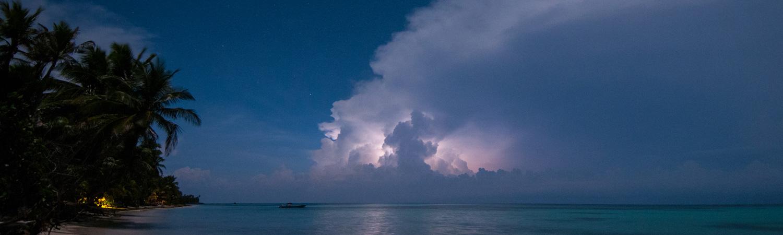 Little Corn Island Sunset Storm